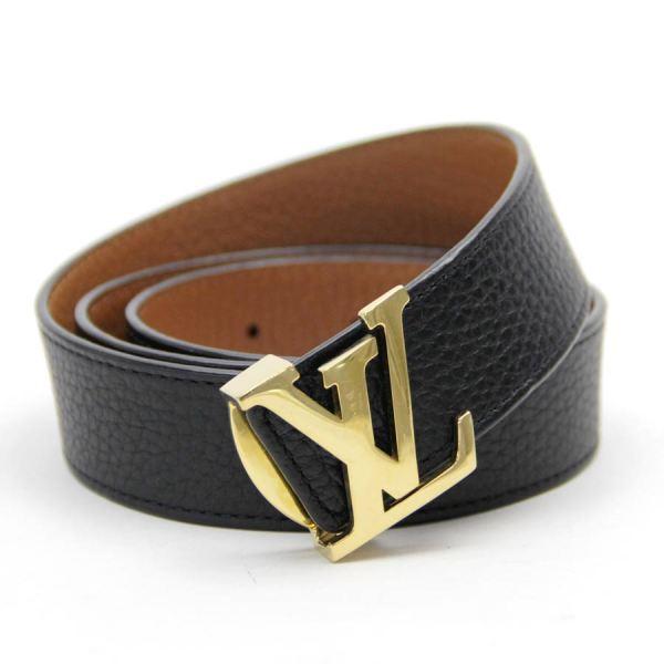 Auth Louis Vuitton Reversible Lv Logo Buckle Belt M9521
