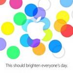 9月10日 Appleスペシャルイベント 正式発表キター! iPhone5Sがお披露目!!招待状はカラフルに!