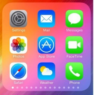 Ios7 135s apps in folder