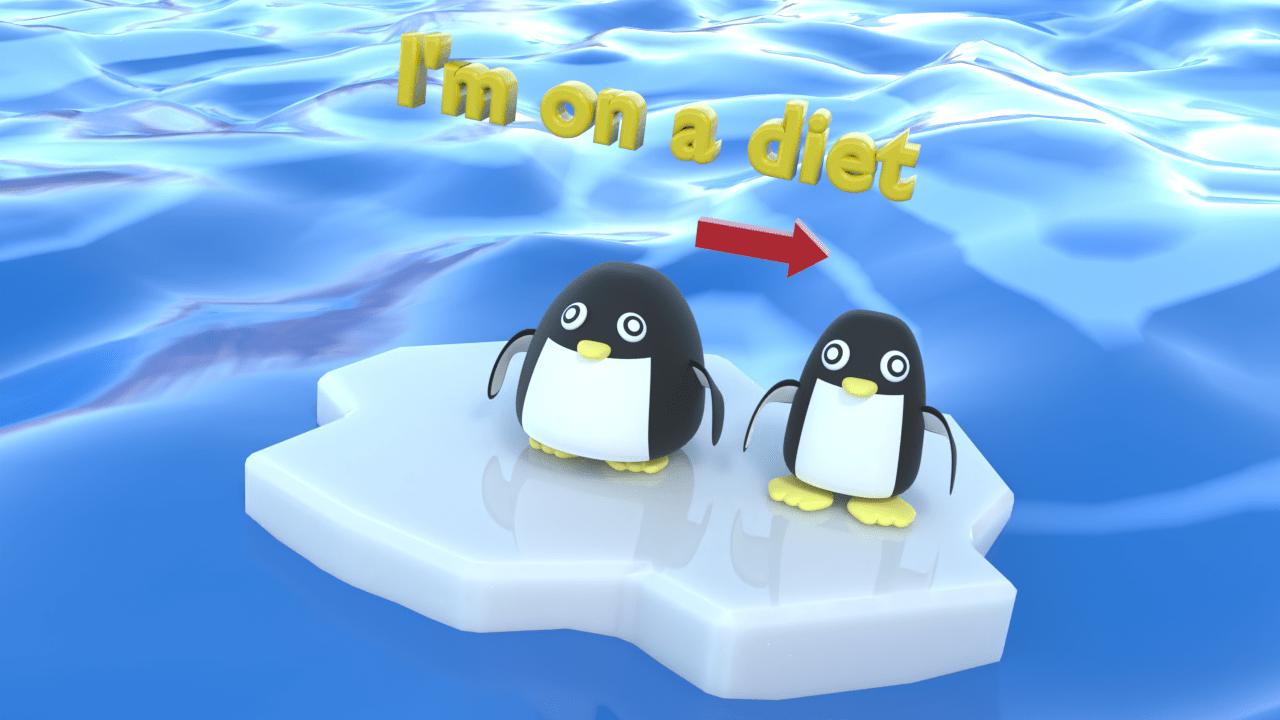 只今ダイエット中