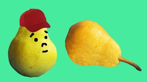 洋梨と帽子
