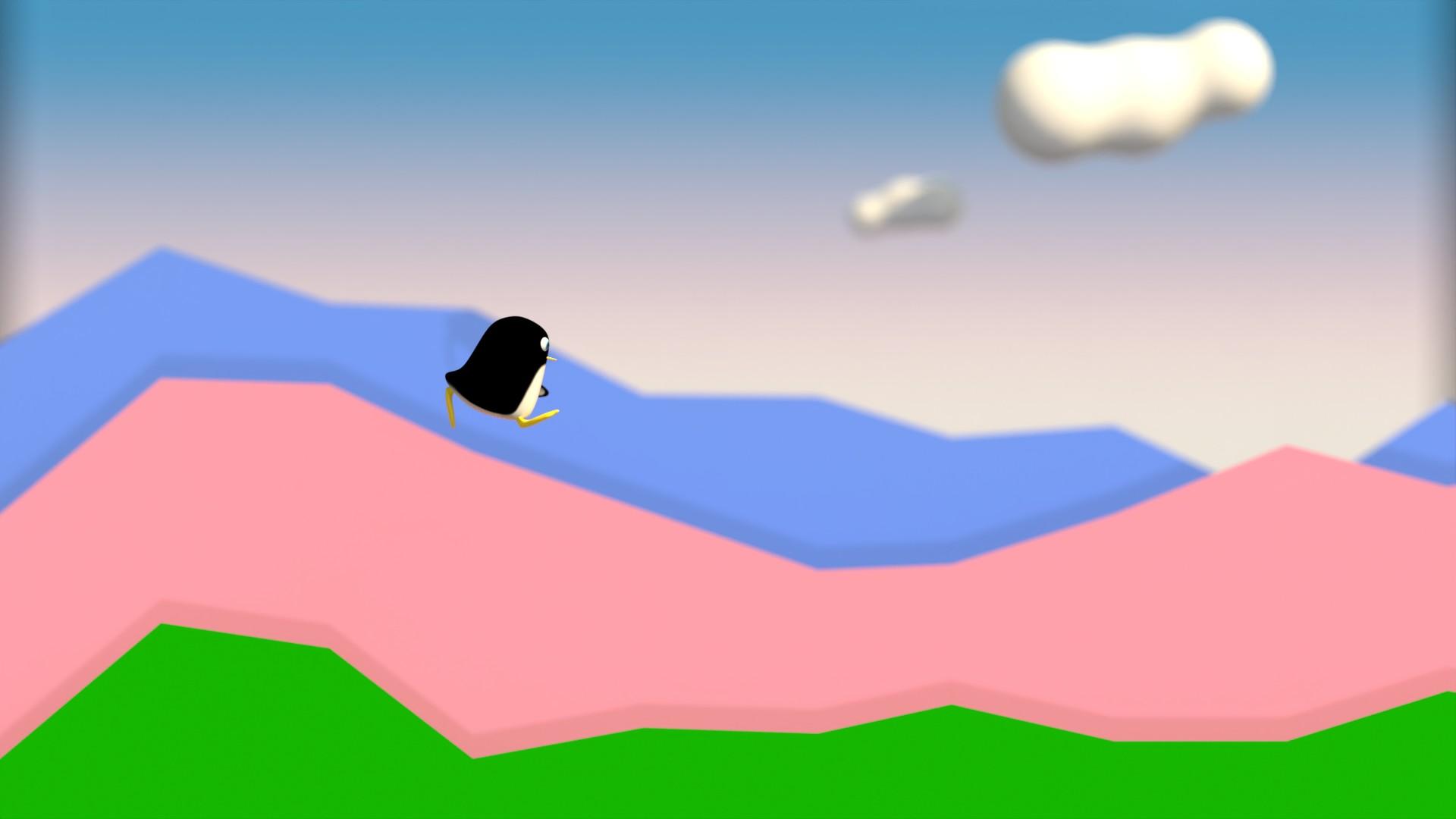 ハリボテの山を駆けるぺんぎんさん