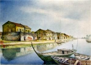 Sông THu Bồn và bến Bạch Đằng - Hội an 1998(1)