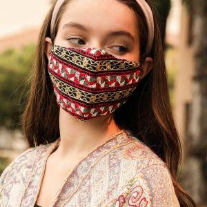 Graphic Embroidered Face Mask