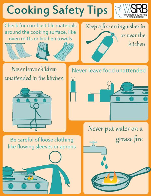 Kitchen Safety Tips InfoGraphic  toasterovenrecipesblog