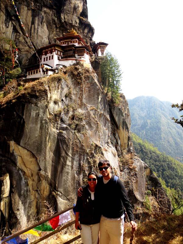 Paul & Mona at Tiger's Nest, Bhutan