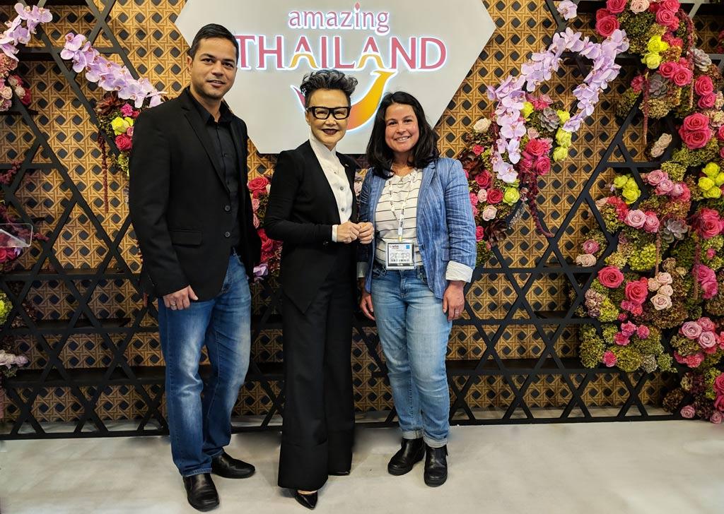 Mona and Paul, Meeting with Mrs Srisuda Wanapinyosak Deputy Governor, Tourism Authority of Thailand (TAT) at World Travel Market (WTM) in London