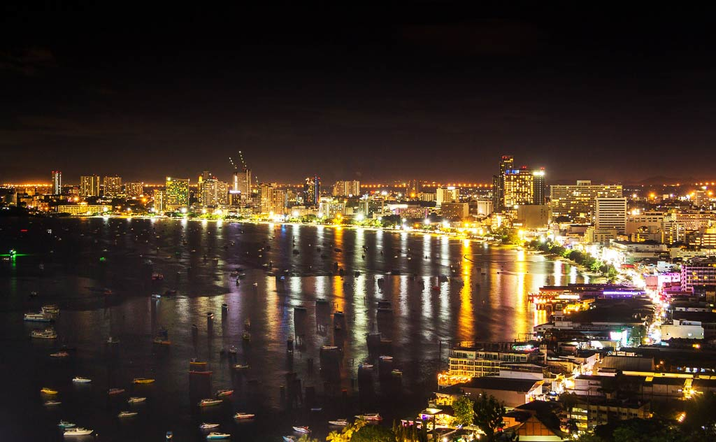 Night view of Pattaya from Pattaya View Point