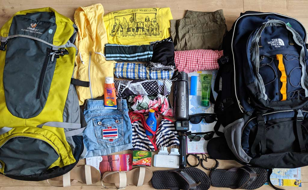 Thailand Packing List of Essential Items - Whether Backpacking or Visiting for a Few Days
