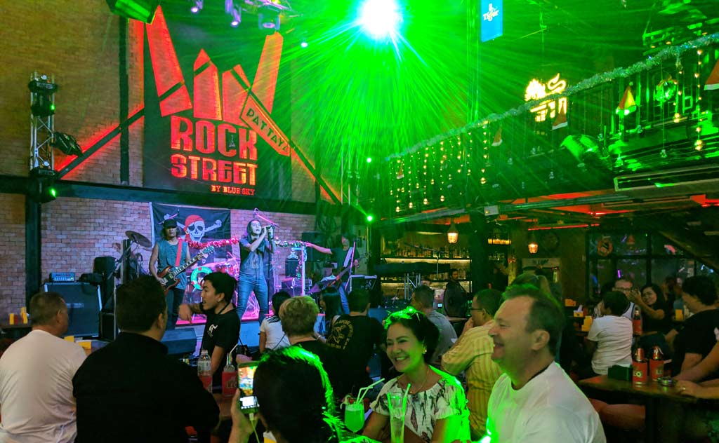 Band performing in a walking street bar
