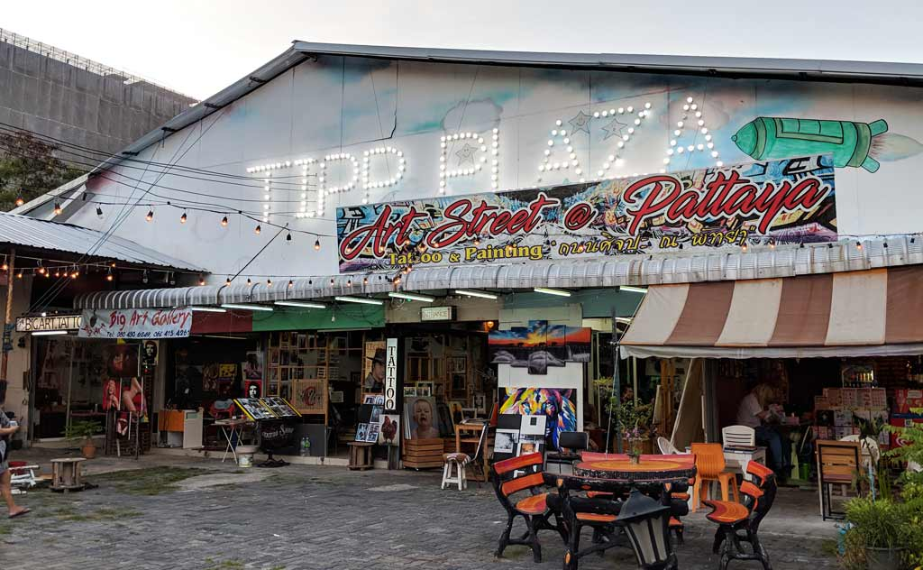 Entrance of Art Street Pattaya
