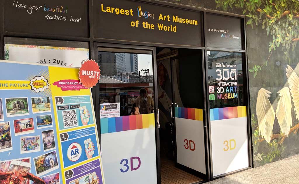 Entrance to Art in Paradise Pattaya