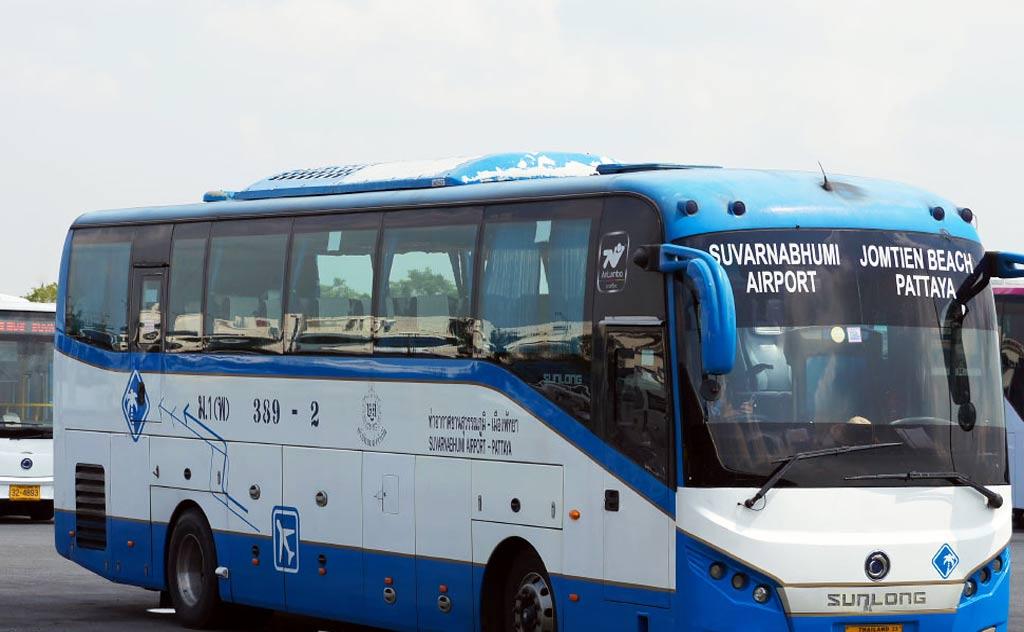 The 389 Airport Pattaya Bus from Suvarnabhumi Airport to Jomtien Beach in Pattaya