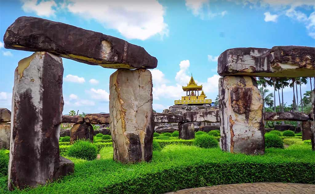 View from inside the Stonehenge Garden in Nong Nooch