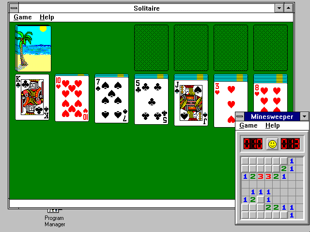 Windows 3.1 Solitaire Minesweeper