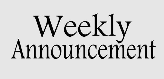 Weekly Announcements For Church Pictures to Pin on