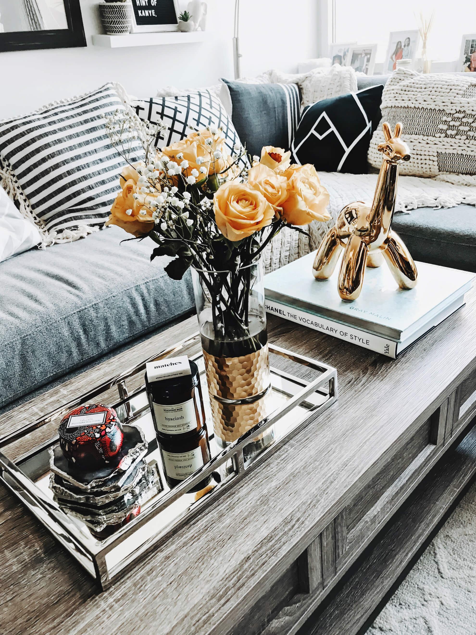 instagram worthy coffee table display