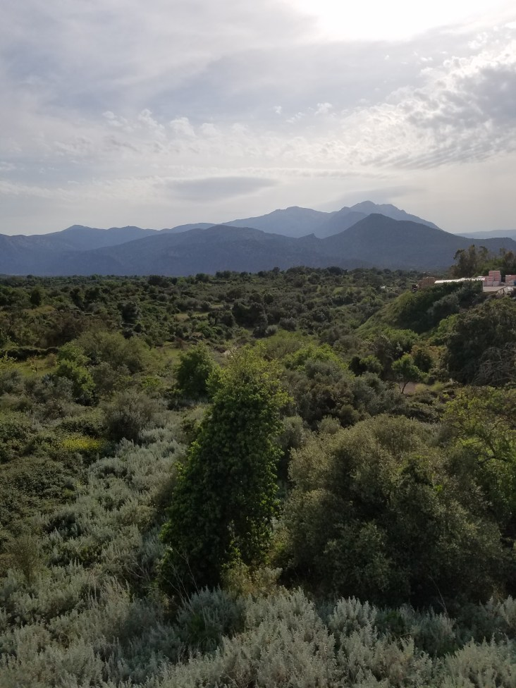 View of the Gennargentu mountains