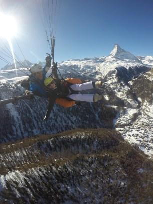 Paragliding near the Matterhorn