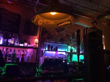 One of the bars ar Szimpla Kert Ruin Bar.