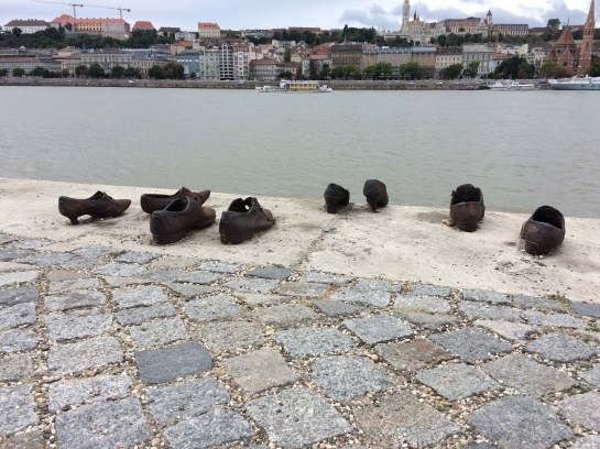 """Shoes on the Danube Bank"" memorial installation"