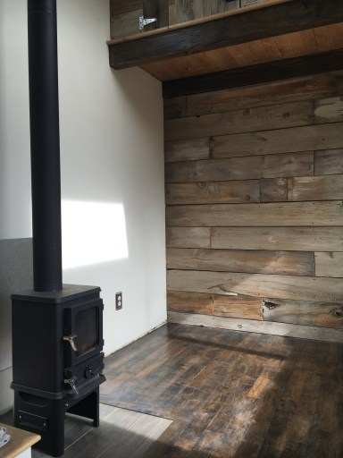 Barnwood (fenceboard doesn't sound as cool) accent wall