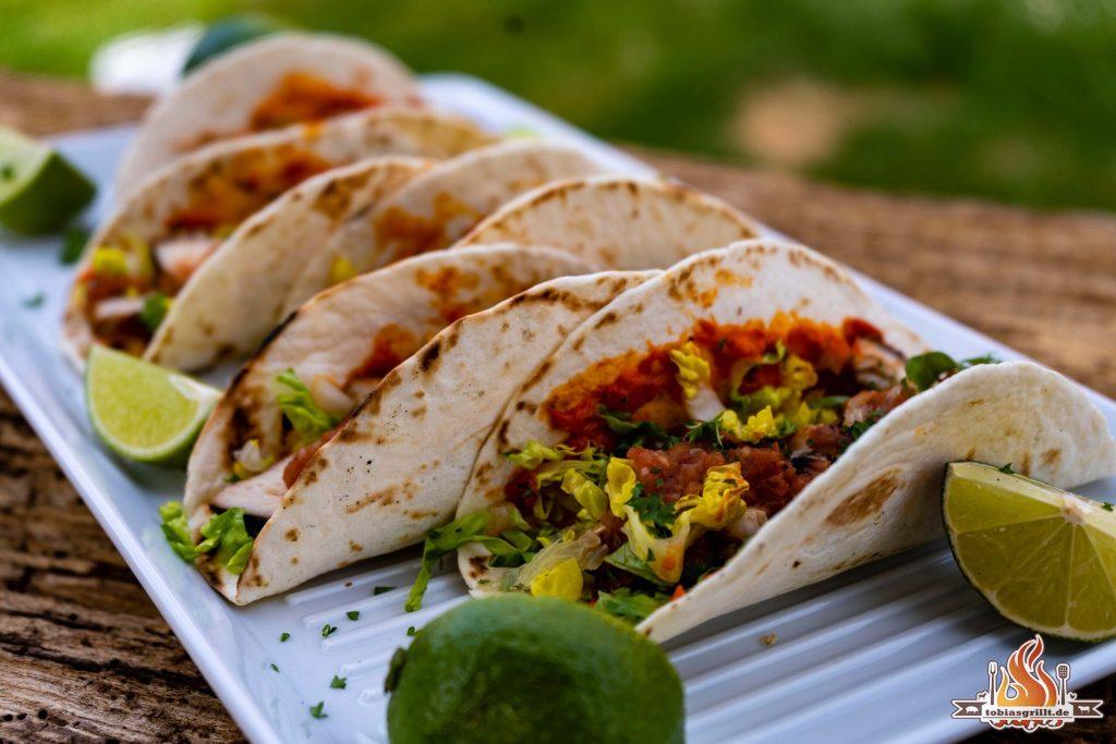 Hähnchen Teriyaki Tacos mit Salsa