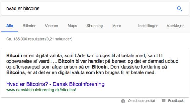 Hvad er bitcoins information search intent