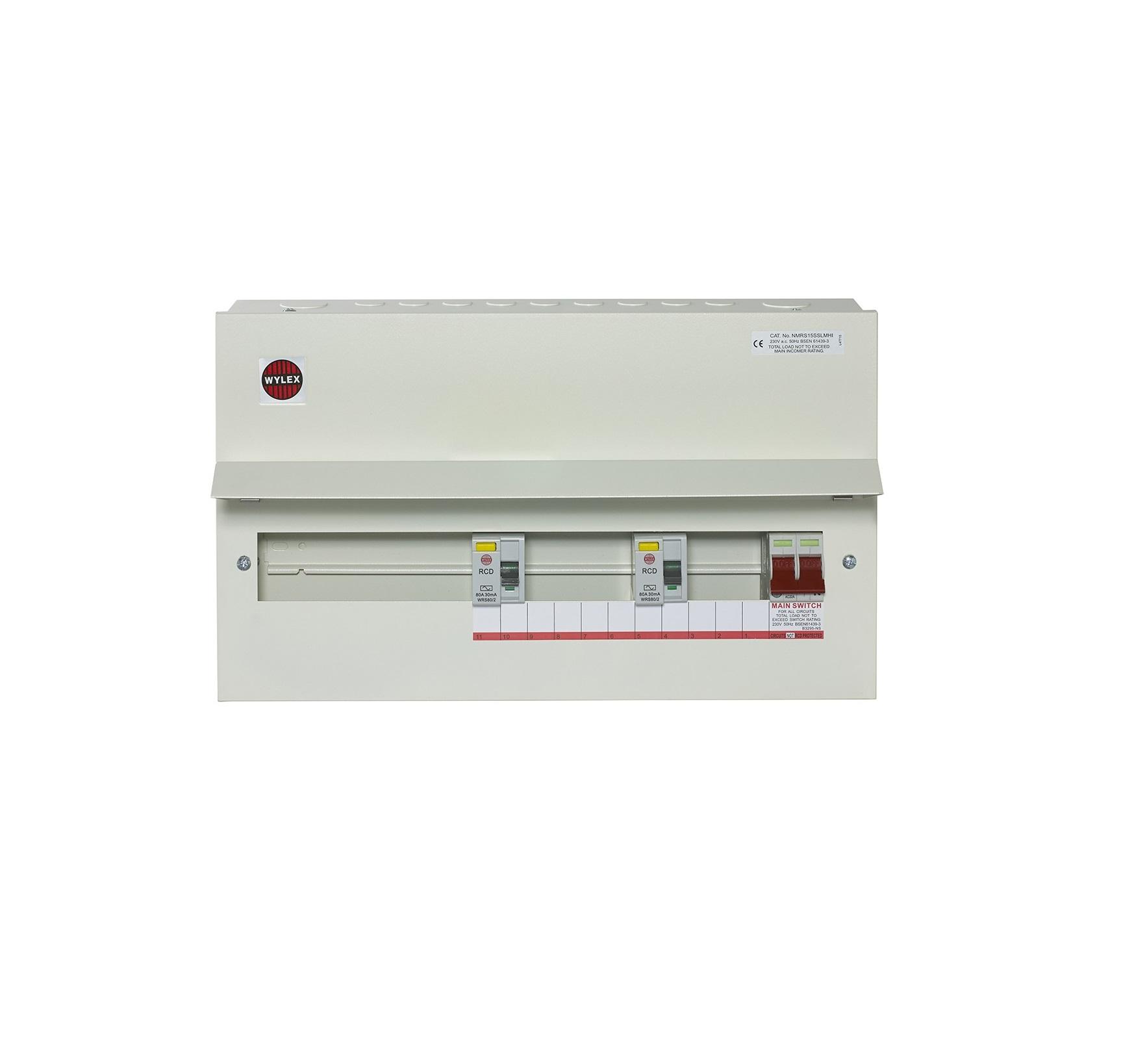 mk dual rcd consumer unit wiring diagram simple room wylex nmrs15sslmhi 15 way 100a dp main