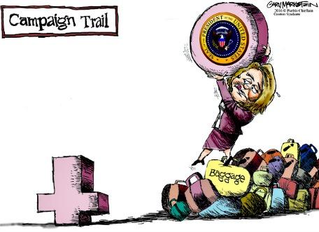 Hillary has baggage