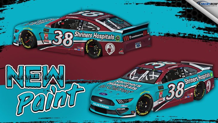 2019 Paint Scheme: No  38 Front Row Motorsports David Ragan Shriners