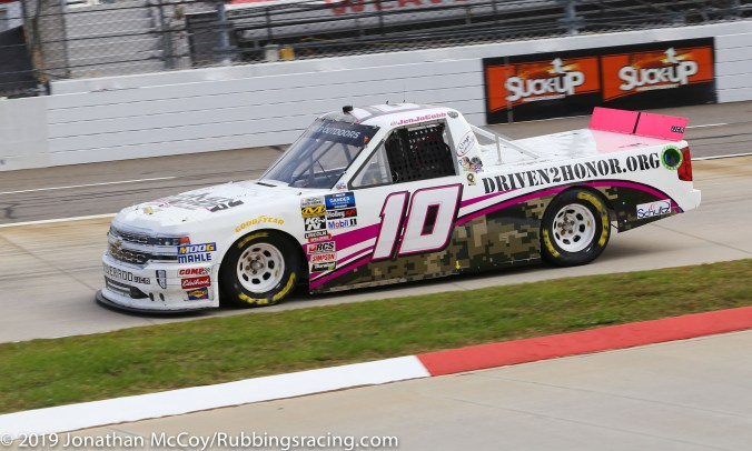 Jennifer Jo Cobb's No. 10 Driven2Honor.org Chevrolet Silverado (Photo Credit: Jonathan McCoy / RubbingsRacing.com)