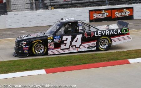 Josh Reaume's No. 34 Levrack Toyota Tundra (Photo Credit: Jonathan McCoy / RubbingsRacing.com)