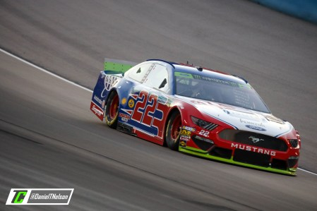 Joey Logano will start from the 11th spot Sunday at Texas. Photo Credit: Daniel Nelson/TobyChristie.com
