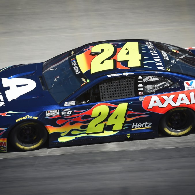 William Byron, driver of the #24 Axalta Chevrolet Camaro ZL1 1LE, races to an 8th place finish Sunday, May 31, 2020 during the NASCAR Cup Series Food City Presents Supermarket Heroes 500 at Bristol Motor Speedway in Bristol, Tennessee. Drivers raced to an empty Bristol Motor Speedway during the COVID-19 pandemic. (Photo for Chevy Racing by Jared C. Tilton/Getty Images)