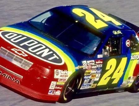Jeff Gordon's full-time debut Chevrolet Lumina (PC : Sam Bass's Twitter)