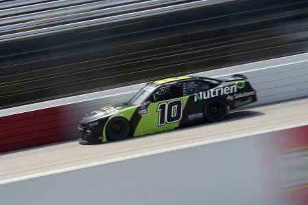DARLINGTON, SOUTH CAROLINA - SEPTEMBER 05: Ross Chastain, driver of the #10 Nutrien Ag Solutions Chevrolet, drives during the NASCAR Xfinity Series Sport Clips Haircuts VFW 200 at Darlington Raceway on September 05, 2020 in Darlington, South Carolina