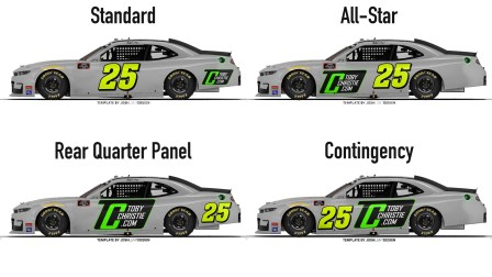 Number placement concepts for the Xfinity Series (Template by Josh Lunt)