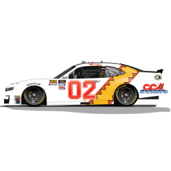 Andy Lally's No. 02 New Wave Cleaning Solutions / Mark Martin Throwback Camaro (PC : Dick Claveloux)