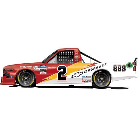 Sheldon Creed's No. 2 Chevrolet / Jimmie Johnson Throwback (PC : Dick Claveloux)