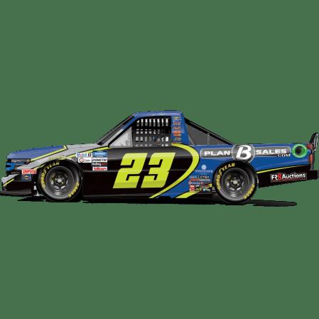 Brett Moffit's No. 23 Plan B Sales / Jimmie Johnson Throwback Silverado (PC : Dick Claveloux)