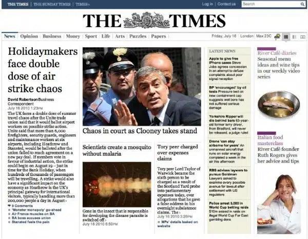 Media's two tribes, Rupert Murdoch's Wall Toby Elwin, blog