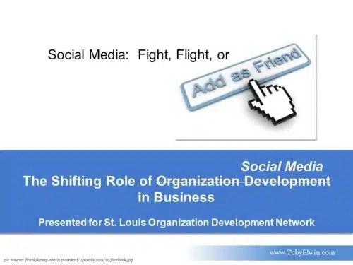 social media, presentation, fight, flight, organization development
