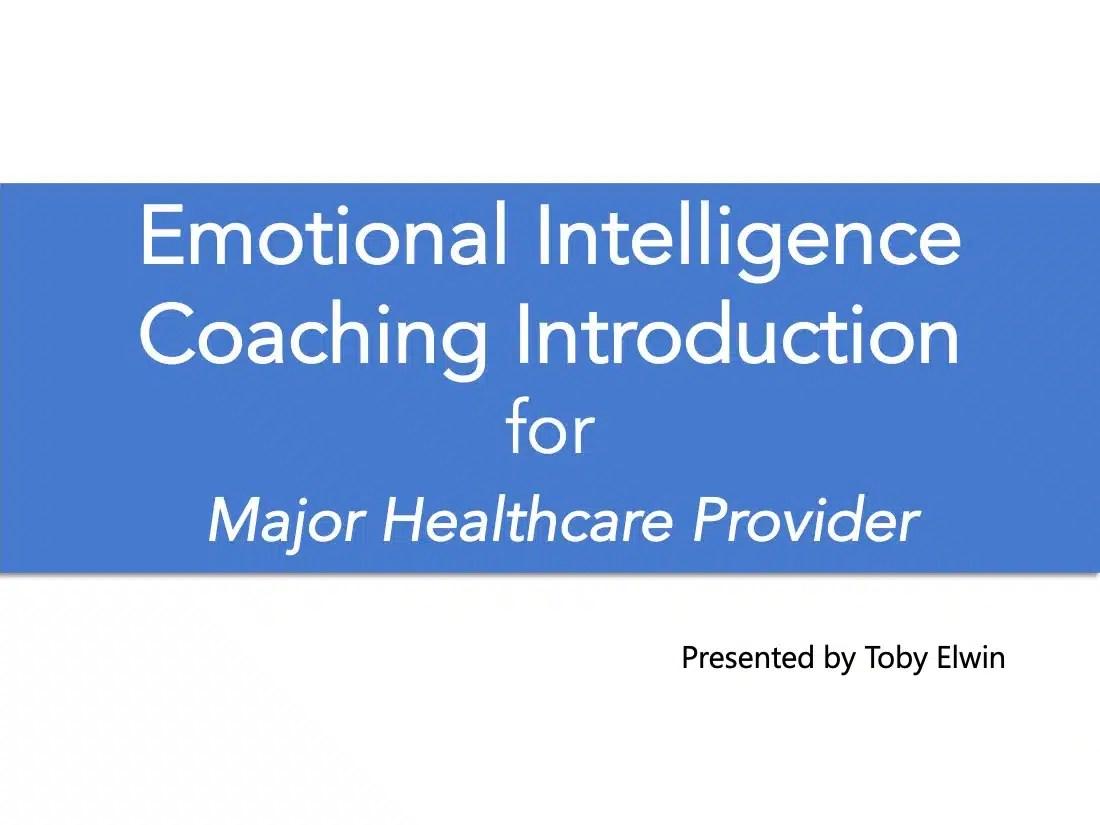 emotional intelligence, coaching, introduction, cover
