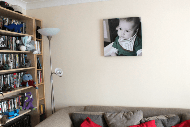 Photo canvas on the wall