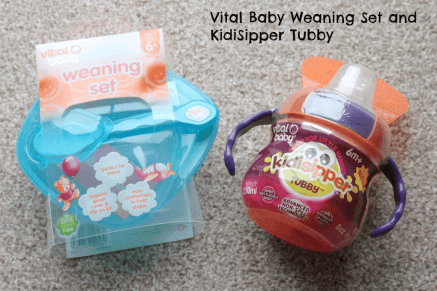 Vital Baby Weaning Set and KidiSipper Tubby
