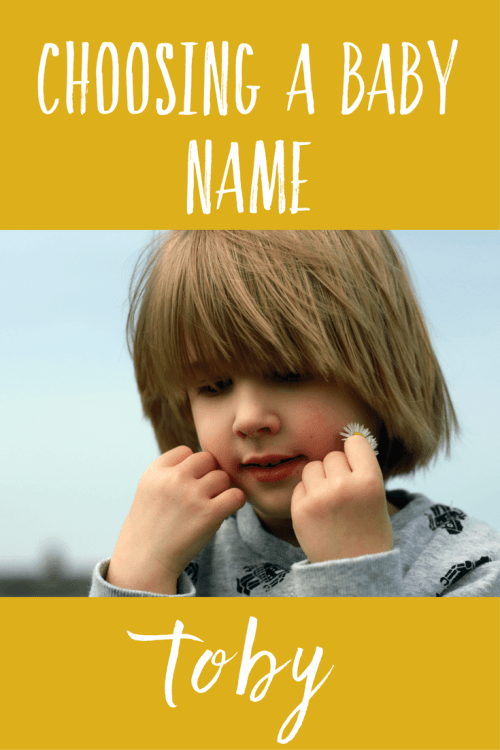 Choosing a baby name - Toby