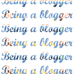 Being a blogger . . .