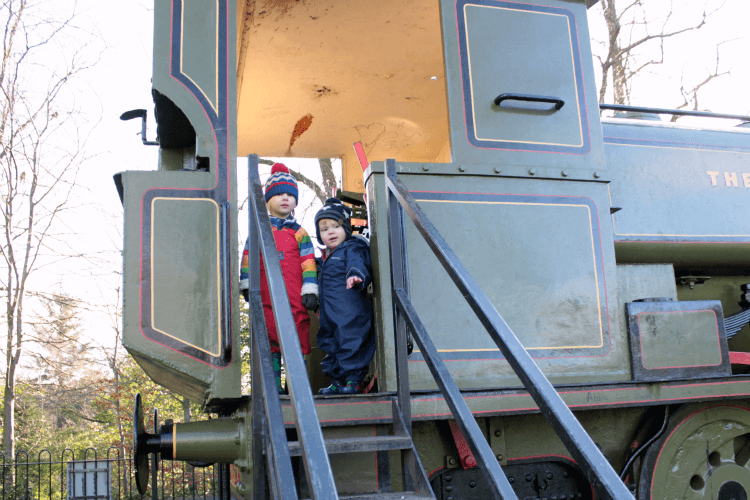 On the footplate