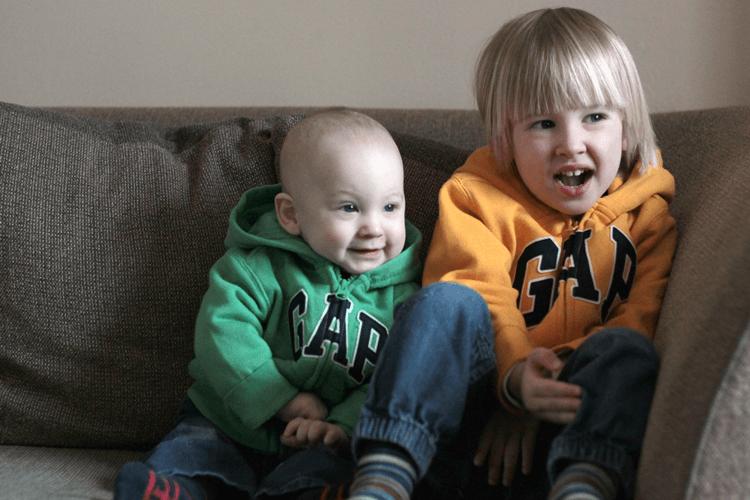 Twinning in Gap hoodies